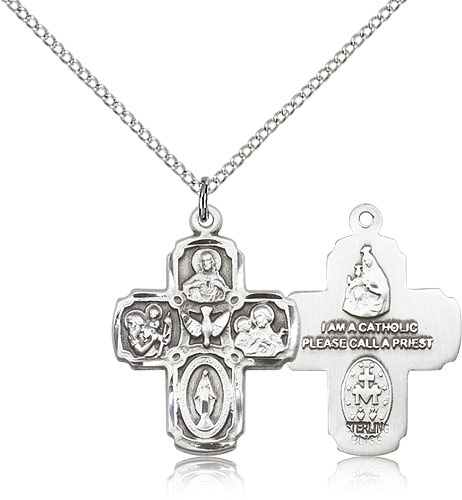 5 way catholic cross pendant sterling silver 1 inch mpn0041ss18ss 5 way catholic cross pendant sterling silver 1 inch aloadofball Choice Image
