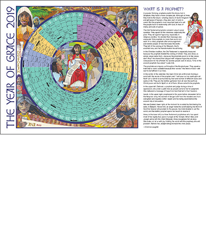 year of grace liturgical calendar 2019 desk size laminated
