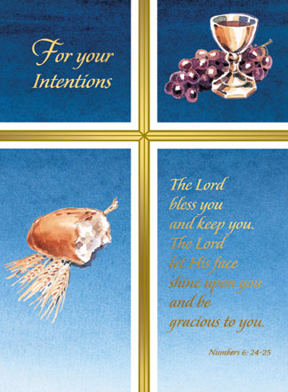 Living Mass Card For Your Intention 50/box MPN:MO571 Mass ...