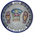 PLATE GOD BLESS OUR HOME DECORATIVE CERAMIC FROM HOLY LAND