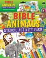 Bible Animals Stencil Activity Pack [With Cards and Pens/Pencils]