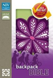 Backpack Bible-NIV-Purple Blossom