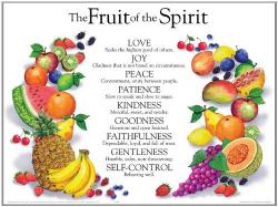 Poster Fruit Of The Spirit Laminated Wall Chart
