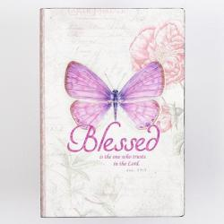 Journal Printed Lux-Leather Butterfly Blessed Jeremiah 17: 7