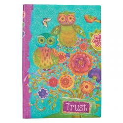 Journal Printed Lux-Leather Owls Trust Proverbs 3:5