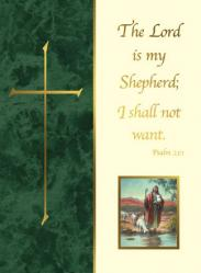 Deceased Mass Card The Lord is My Shepherd 50/box