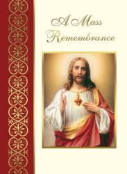 Deceased Mass Card Sacred Heart A Mass Remembrance 100/bx