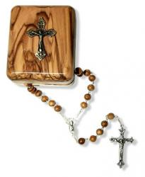 OLIVEWOOD ROSARY WITH BOX