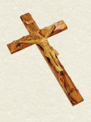 Crucifix OLIVEWOOD 27 inch with Carved OLIVEWOOD Corpus