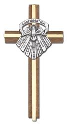 Cross Confirmation Walnut 6 inch