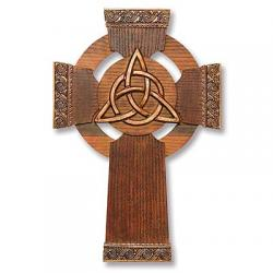 Cross Trinity Knot Wall Cross - Celtic / Irish