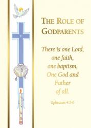 Baptism Godparent Folder Banner 100/box