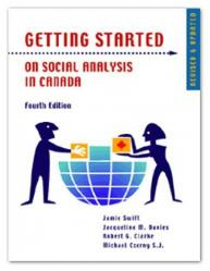 Getting Started On Social Analysis in Canada Fourth Edition