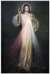 "Divine Mercy Picture Mounted 24"" x 36\"""