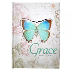 Journal Hardcover Die-Cut Large Butterfly Grace Ephesians 2:8