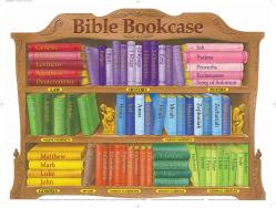 Poster Bible Bookcase Laminated Wall Chart