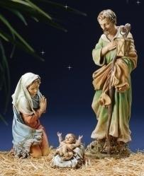 "Holy Family Nativity 27 inch Full Colour 3 Pieces (27"" Scale)"