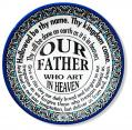 PLATE OUR FATHER DECORATIVE CERAMIC FROM THE HOLY LAND