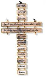 CHILDREN\'S CROSS THE LORD\'S PRAYER OLIVEWOOD 9.5 inch