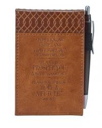 For the Plans I Have for You Lux-Leather Pocket Notepad: Brown [With Pens/Pencils]