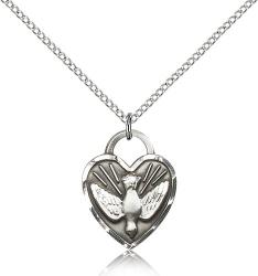 CONFIRMATION Pendant Sterling Silver 3/4""