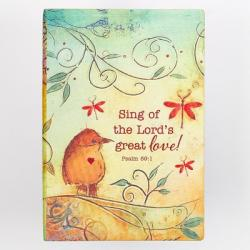 Journal Printed Lux-Leather Sing Great Love Psalm 89:1